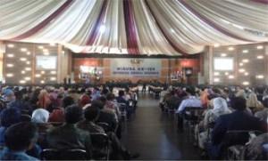 Suasana Wisuda ke-108 Unsoed di Auditorium Graha Widyatama.