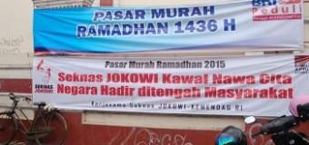 """Pasar Murah Ramadan 2015"" di Tengah Kunjungan Jokowi ke Purwokerto"