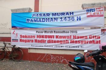 Spanduk Pasar Murah Ramadan 2015. Foto: Rachma Amalia