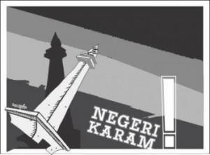 monumen negara karam. Ilustrasi: Sucipto