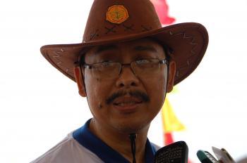 Sukur Syukur Iwantoro, Direktur Jenderal Peternakan dan Kesehatan Hewan saat diwawancara. (Supriono)
