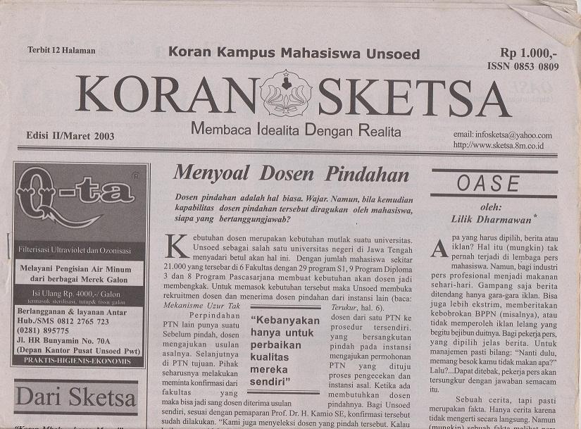 Koran edisi 11 Maret 2003