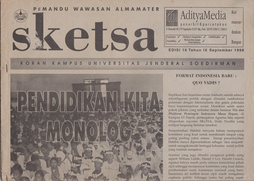 Koran edisi 16 Tahun IX September 1998
