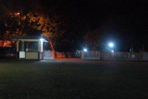 Pos Keamanan di Kompleks PKM Unsoed, Sabtu (25/2). Foto: Yoga Iswara Rudita Muhammad.