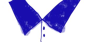 Pria Berkerah Biru